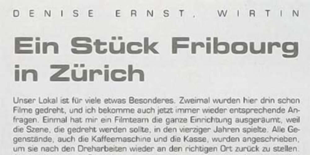 Raum und Wohnen – Ein Stück Fribourg in Zürich